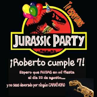 Cumpleaños temático DINOSAURIOS / JURASSIC PARTY – Un ...