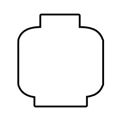 imprimible cabeza lego