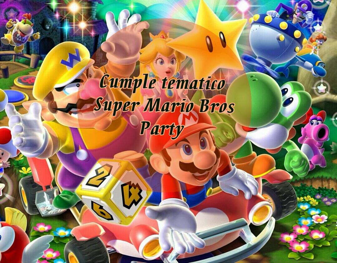Cumpleaños Mario Bros Super Mario Bros Party Un Dinosaurio En La