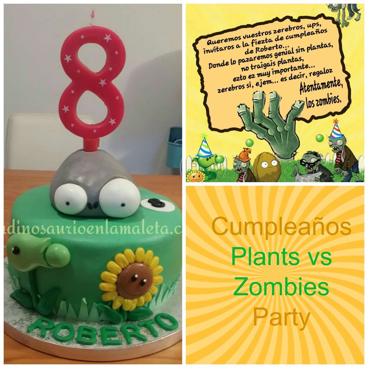 Cumpleanos Plantas Contra Zombies Plants Vs Zombies Party Un